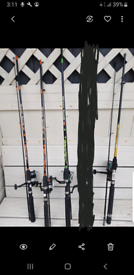 6 foot spinning rods with reels and line