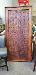 Antique Dining Table from 100 Year Old Indian House Door
