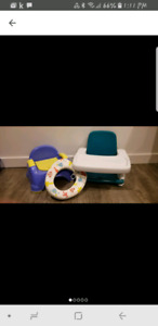 Potty, booster seat and toilet seat