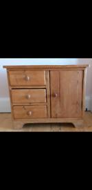 Refurbished Antique Solid Pine Cabinet