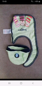 Tombliboos bib and hat set age 3 to 6 months