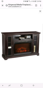 TV STAND fireplace unit