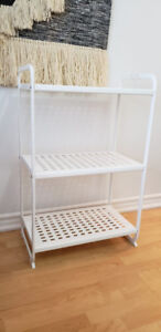 White IKEA shelf unit (perfect condition) - $20 (original $35)
