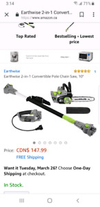 Electric 2 in 1 pole Chainsaw