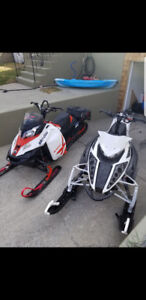 REDUCED**2 sleds for sale**2013 arctic cat and 2014 ski doo**