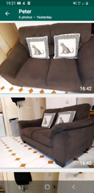 Immaculate 2 seater and chair