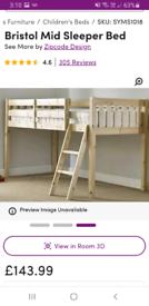 Wayfair mid sleeper bed frame