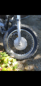 Dunlop motorcycle tires and rims