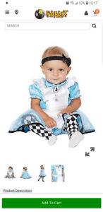 Alice in wonderland costume 12-18m