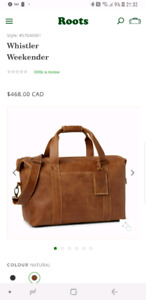 Genuine leather Roots bag