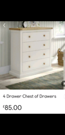 4 DRAWER CHEST BRAND NEW ONLY £84.99