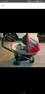 Peg Perego pop-up stroller and bassinet