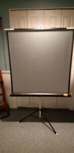 DELUXE PROJECTION SCREEN & STRATO PROJECTOR
