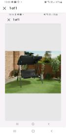 Milano Two 2 Seater Garden Swing Hammock Chair Canopy Swinging + Seat