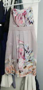 Le Chateau strapless dress with pockets