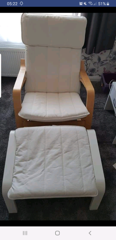 Pleasing Ikea Poang Rocking Chair And Footstool In Portsmouth Hampshire Gumtree Machost Co Dining Chair Design Ideas Machostcouk