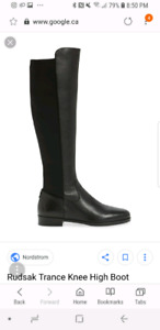 Rudsak knee high leather boots women