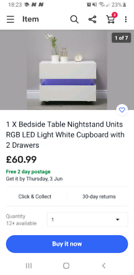 2 x bedside cabinets or living room drawers not used only sat in bedro