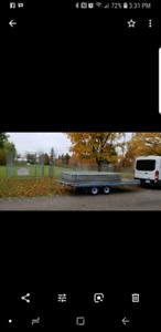 6.5' x15' tandem axle deckover trailer.