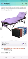 Massage table from amazon