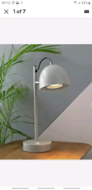 Argos Home Haddenham USB Powered 40cm Tall Task Lamp - Grey