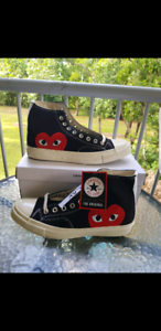 CDG x Converse Black High US9.5
