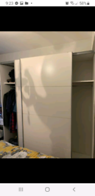 Sliding door white wardrobe