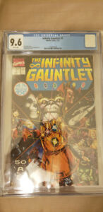 cgc comic - infinity gauntlet 1 - 9.6