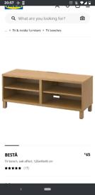 Besta IKEA TV stand - oak effect