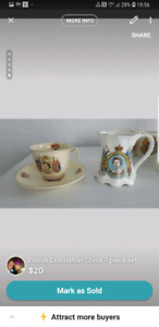 British Coronation China 7 piece set