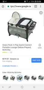 Brown graco playpen