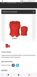Womans AllState Leather vest.