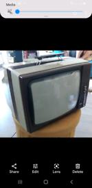 Vintage retro ITT Portable Tv