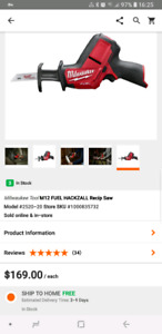 Brand New Milwaukee M12 Fuel Hackzall Tool Only