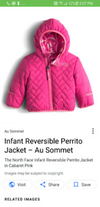 Northface reversible jacket size 2T