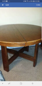 Table Round/Oval large dining set with 4 chairs