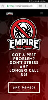 $10 Kits, $120 single visit, $300 30 days unlimited pest control