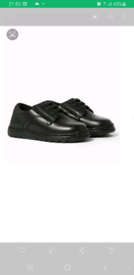 BNWT, M&S boys leather shoes, size 12