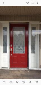 Front door with side windows.  $400 OBO