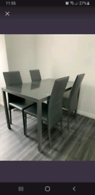 4 seater dining table & chairs