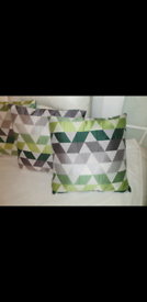 Curtains & 9 cushion covers