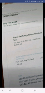Taylor Swift at Ford Field Aug 28th
