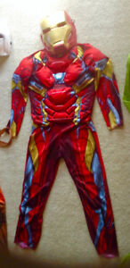 Boys iron man muscle costume size 8-10 with mask Hulk also