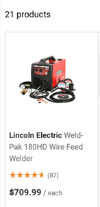 Lincoln electric welder 180HD welding mask and wire brand new