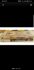 2 x xbox 360 games sleeping dogs saints row