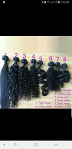 100% unprocessed human hair extensions