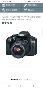 Mint condition canon t6 with 18-55 lens and bag