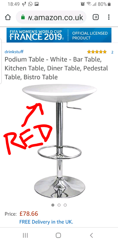 Super High Gloss Bistro Bar Table Kitchen In Bolton Manchester Gumtree Pdpeps Interior Chair Design Pdpepsorg