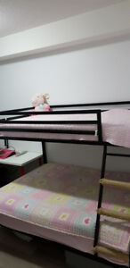 Full metal Bunk bed with mattress