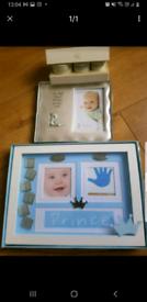 New born baby boy gift photo frame.